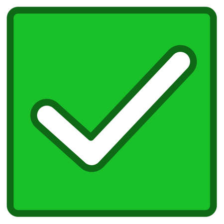 valid: Valid Checkbox interface toolbar pictogram. Vector pictogram style is a flat symbol with contour edges.
