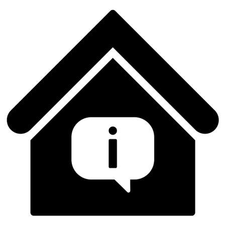 hint: Hint Building vector icon. Flat black symbol. Pictogram is isolated on a white background. Designed for web and software interfaces.