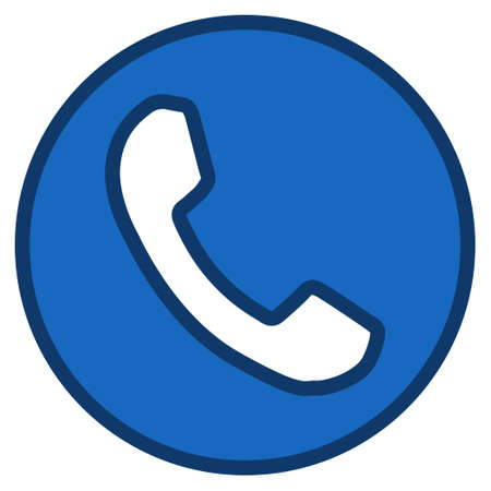 phone receiver: Phone Receiver toolbar icon. Glyph pictograph style is a flat symbol with contour edges. Stock Photo