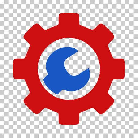 파란색과 빨간색 서비스 도구 도구 모음 그림. 벡터 상형 문자 스타일 체스 투명 배경에 플랫 바이 컬러의 상징이다. 스톡 콘텐츠 - 66716351