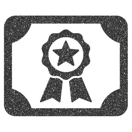 licence: Certificate rubber seal stamp watermark. Icon glyph symbol with grunge design and corrosion texture. Scratched gray ink emblem on a white background.