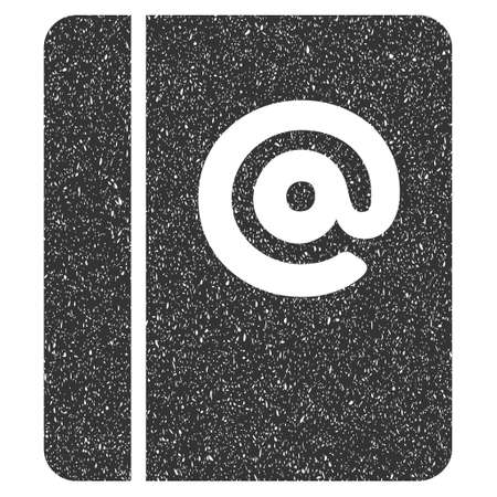 grungy email: Emails rubber seal stamp watermark. Icon glyph symbol with grunge design and corrosion texture. Scratched gray ink sign on a white background.