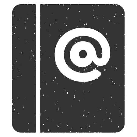 grungy email: Emails rubber seal stamp watermark. Icon glyph symbol with grunge design and dirty texture. Scratched gray ink emblem on a white background. Stock Photo