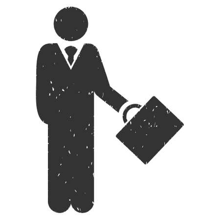 moneymaker: Businessman rubber seal stamp watermark. Icon vector symbol with grunge design and unclean texture. Scratched gray ink emblem on a white background. Illustration