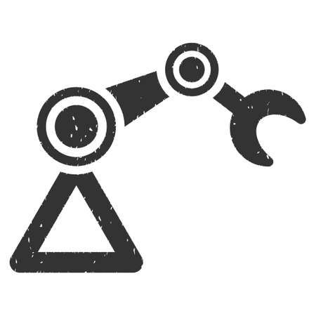 manipulator: Manipulator rubber seal stamp watermark. Icon vector symbol with grunge design and unclean texture. Scratched gray ink emblem on a white background. Illustration