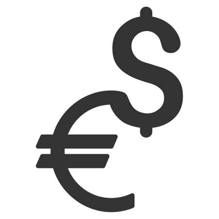 Currency vector icon. Flat gray symbol. Pictogram is isolated on a white background. Designed for web and software interfaces.