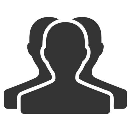 collective: Customer Group vector icon. Flat gray symbol. Pictogram is isolated on a white background. Designed for web and software interfaces.