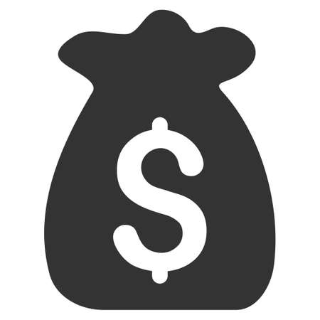 Financial Capital vector icon. Flat gray symbol. Pictogram is isolated on a white background. Designed for web and software interfaces. Illustration