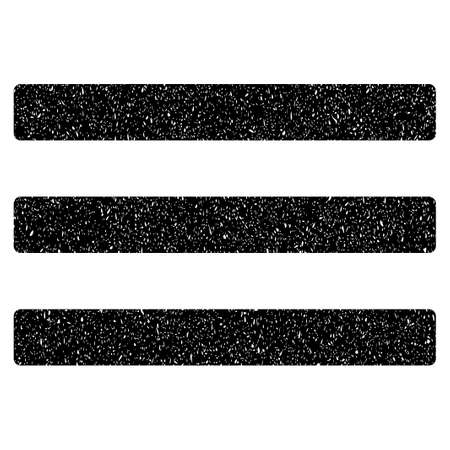 numerate: Menu grainy textured icon for overlay watermark stamps. Flat symbol with dust texture. Dotted vector black ink rubber seal stamp with grunge design on a white background.