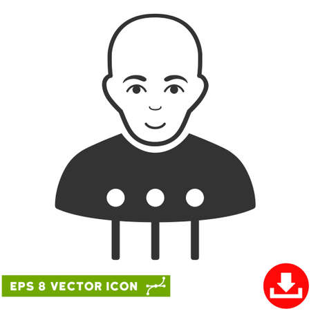eps vector icon: Vector Cyborg Interface EPS vector icon. Illustration style is flat iconic gray symbol on a transparent background.