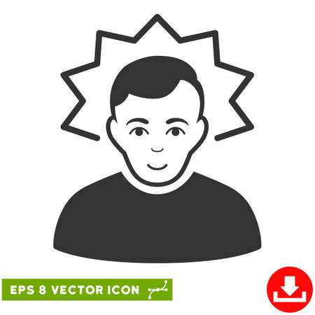 Vector Inventor EPS vector icon. Illustration style is flat iconic gray symbol on a transparent background.