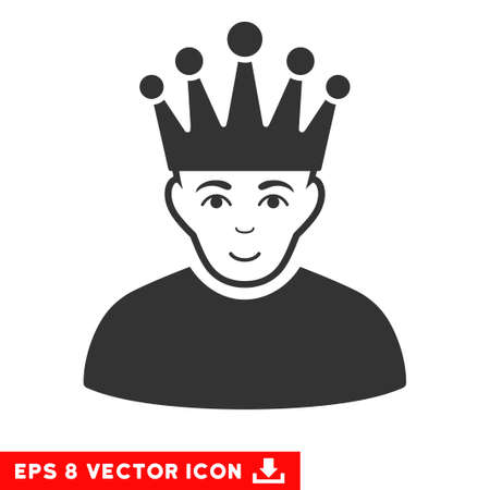 eps vector icon: Vector Moderator EPS vector icon. Illustration style is flat iconic gray symbol on a transparent background.