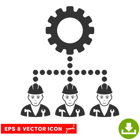 Vector Service Staff EPS vector icon. Illustration style is flat iconic gray symbol on a transparent background.