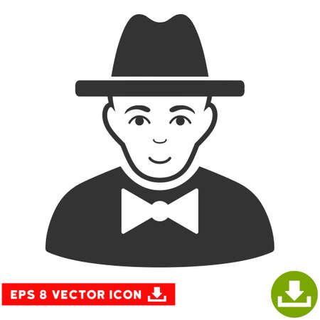 the fbi: Vector Spy EPS vector pictogram. Illustration style is flat iconic gray symbol on a transparent background. Illustration