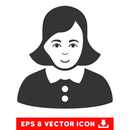 eps vector icon: Vector Woman EPS vector icon. Illustration style is flat iconic gray symbol on a transparent background.