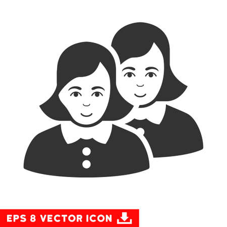 eps vector icon: Vector Women EPS vector icon. Illustration style is flat iconic gray symbol on a transparent background.