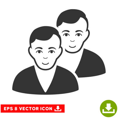 eps vector icon: Vector Users EPS vector icon. Illustration style is flat iconic gray symbol on a transparent background.
