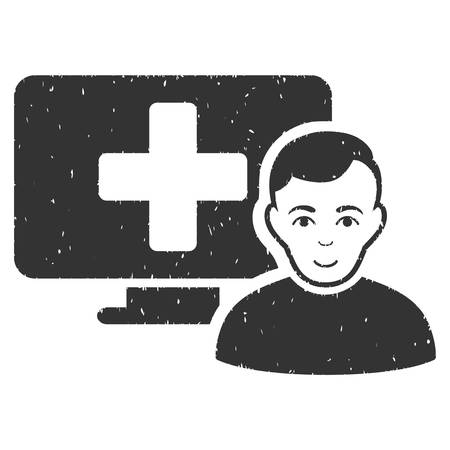 online medicine grainy textured icon for overlay watermark stamps