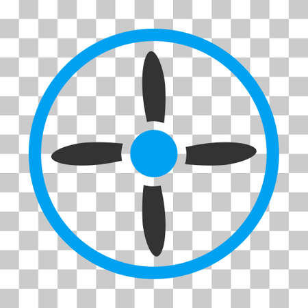 Drone Screw vector icon. Illustration style is flat iconic bicolor blue and gray symbol on a transparent background.
