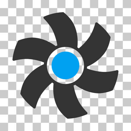 Rotor vector pictograph. Illustration style is flat iconic bicolor blue and gray symbol on a transparent background. Illustration