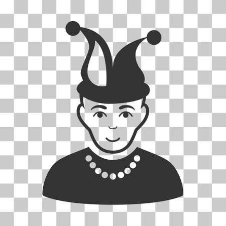 fool: Fool vector icon. Illustration style is flat iconic gray symbol on a chess transparent background. Illustration