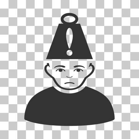 Head Stress vector pictogram. Illustration style is flat iconic gray symbol on a chess transparent background. Illustration