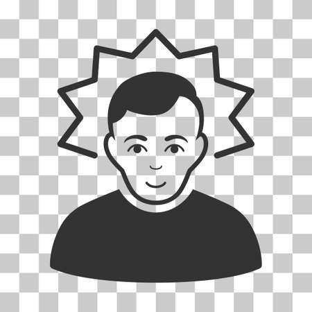 invent clever: Inventor vector pictogram. Illustration style is flat iconic gray symbol on a chess transparent background. Illustration