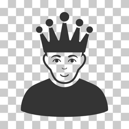 personality: Moderator vector pictograph. Illustration style is flat iconic gray symbol on a chess transparent background.