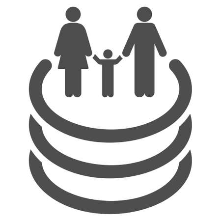 kin: Family Portal vector icon. Flat gray symbol. Pictogram is isolated on a white background. Designed for web and software interfaces.