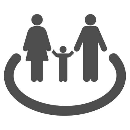 kin: Family Area vector icon. Flat gray symbol. Pictogram is isolated on a white background. Designed for web and software interfaces.