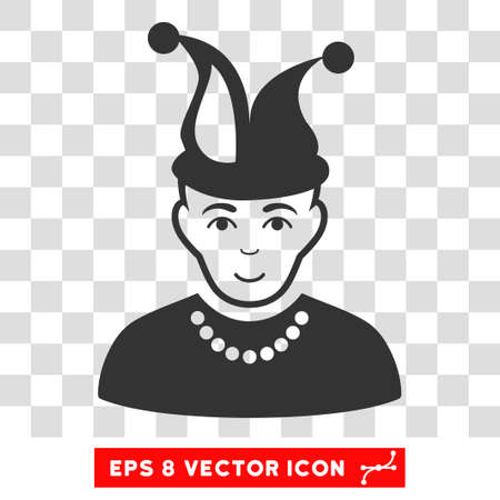 Fool EPS vector pictogram. Illustration style is flat iconic gray symbol on chess transparent background. Illustration