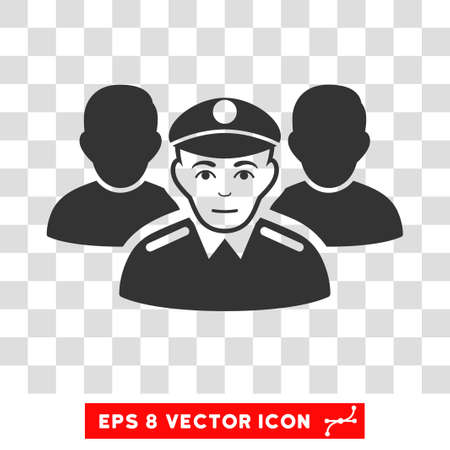 corps: Army Team EPS vector pictogram. Illustration style is flat iconic gray symbol on chess transparent background. Illustration