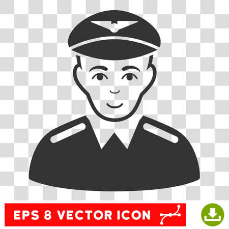 Aviator EPS vector pictogram. Illustration style is flat iconic gray symbol on chess transparent background.