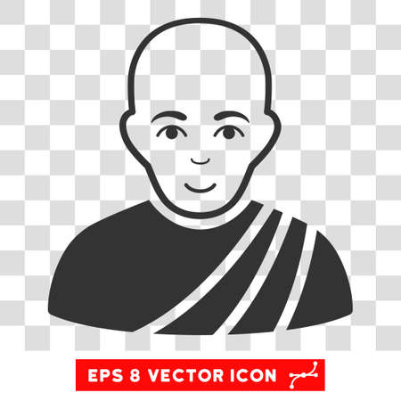 buddhist monk: Buddhist Monk EPS vector icon. Illustration style is flat iconic gray symbol on chess transparent background. Illustration