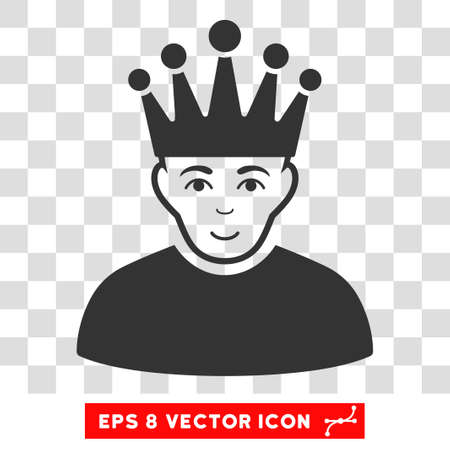 Moderator EPS vector pictograph. Illustration style is flat iconic gray symbol on chess transparent background. Illustration