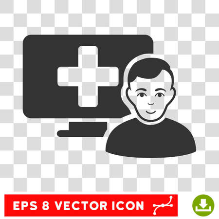eps vector icon: Online Medicine EPS vector icon. Illustration style is flat iconic gray symbol on chess transparent background.