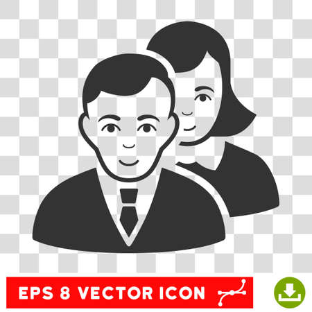 collective: People EPS vector pictogram. Illustration style is flat iconic gray symbol on chess transparent background.