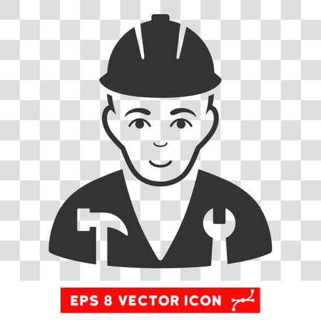 serviceman: Serviceman EPS vector pictogram. Illustration style is flat iconic gray symbol on chess transparent background.