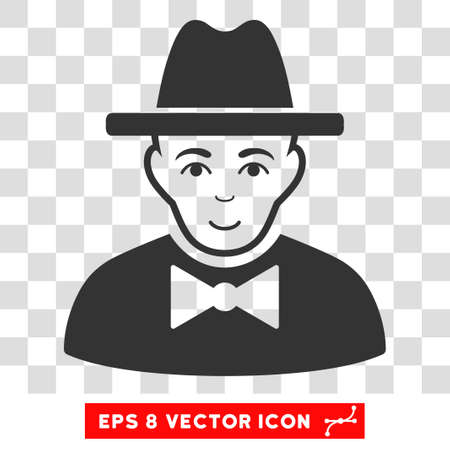 eps vector icon: Spy EPS vector icon. Illustration style is flat iconic gray symbol on chess transparent background.