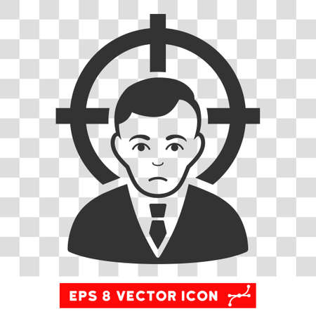 symbol victim: Victim Businessman EPS vector pictogram. Illustration style is flat iconic gray symbol on chess transparent background. Illustration
