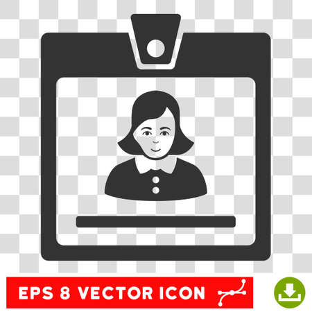 eps vector icon: Woman Badge EPS vector icon. Illustration style is flat iconic gray symbol on chess transparent background.