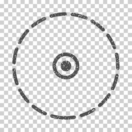 zonal: Round Area grainy textured icon for overlay watermark stamps. Flat symbol with dirty texture. Dotted vector gray ink rubber seal stamp with grunge design on a white background.