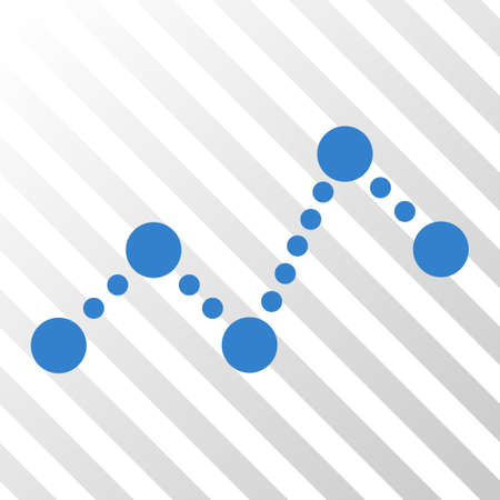 Cobalt Chart interface toolbar icon. Vector pictogram style is a flat symbol on diagonally hatched transparent background.