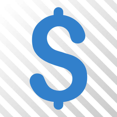 Cobalt Dollar interface toolbar icon. Vector pictograph style is a flat symbol on diagonal hatch transparent background.
