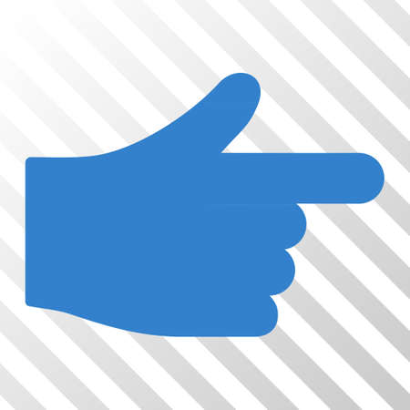 Cobalt Index Hand interface icon. Vector pictogram style is a flat symbol on diagonal hatch transparent background.