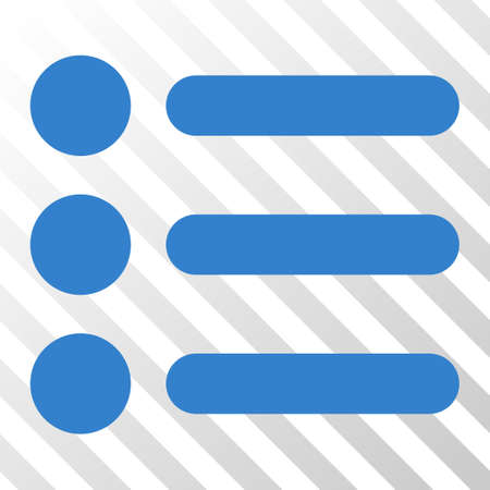 Cobalt Items interface toolbar pictogram. Vector pictograph style is a flat symbol on diagonal hatch transparent background.