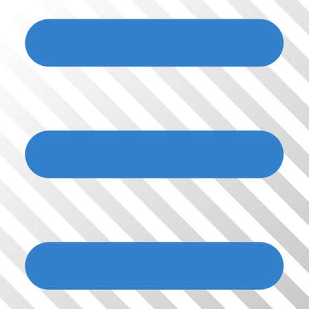 Cobalt Menu Items interface toolbar pictogram. Vector pictogram style is a flat symbol on diagonally hatched transparent background. Illustration