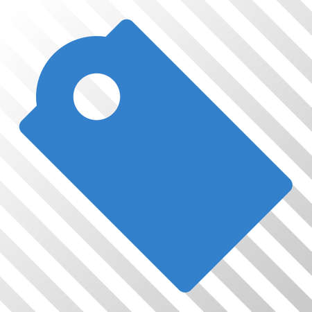 operand: Cobalt Tag toolbar pictogram. Vector pictogram style is a flat symbol on diagonally hatched transparent background.