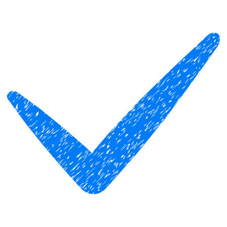Valid grainy textured icon for overlay watermark stamps. Flat symbol with unclean texture. Dotted vector blue ink rubber seal stamp with grunge design on a white background.
