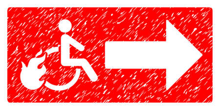 Patient Exit grainy textured icon for overlay watermark stamps. Flat symbol with scratched texture. Dotted vector red ink rubber seal stamp with grunge design on a white background. Illustration